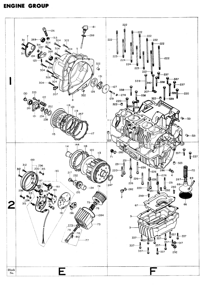 exploded views parts list 4into1 com Vintage Honda