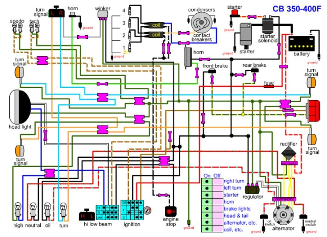 [SCHEMATICS_4JK]  CB400F wiring diagram | 4into1.com Vintage Honda Motorcycle Parts Blog | Honda Cb400f Wiring Diagram |  | 4into1.com Vintage Honda Motorcycle Parts Blog - WordPress.com