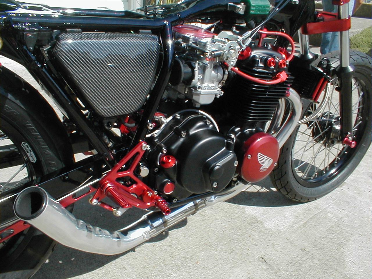 clean red n black cb400f | 4into1.com Vintage Honda ...