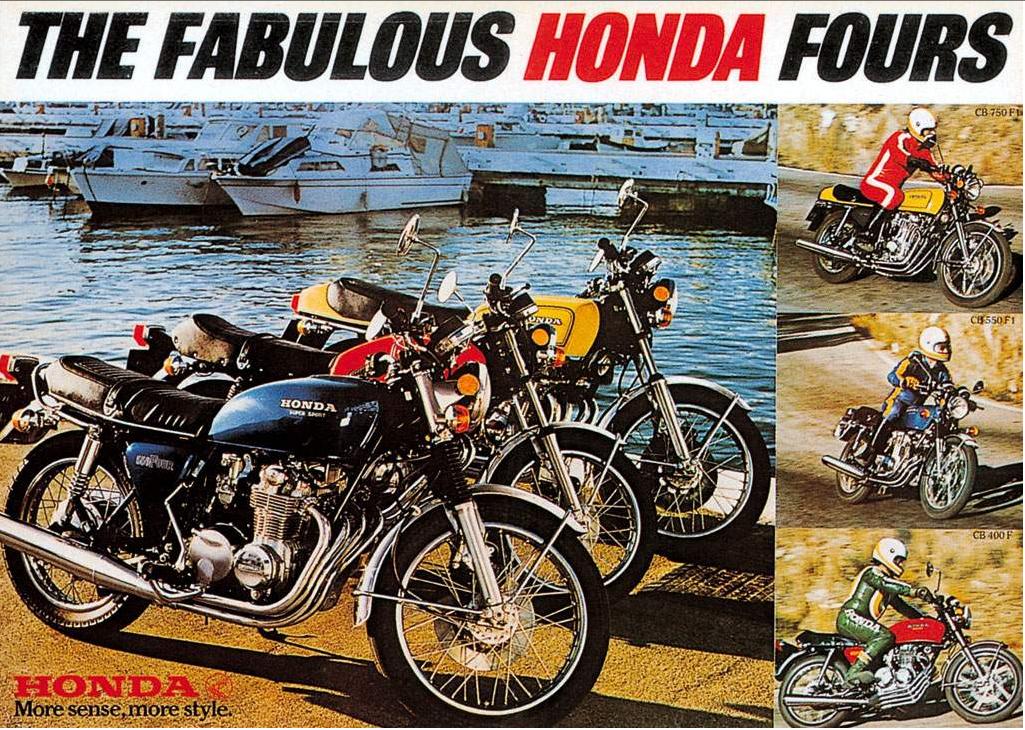 Honda Parts Motorcycle CB400F ads | 4into1.com Vintage Honda Motorcycle Parts Blog