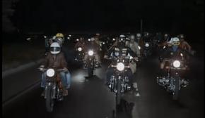 Federico Fellini Roma Honda motorcycle scene