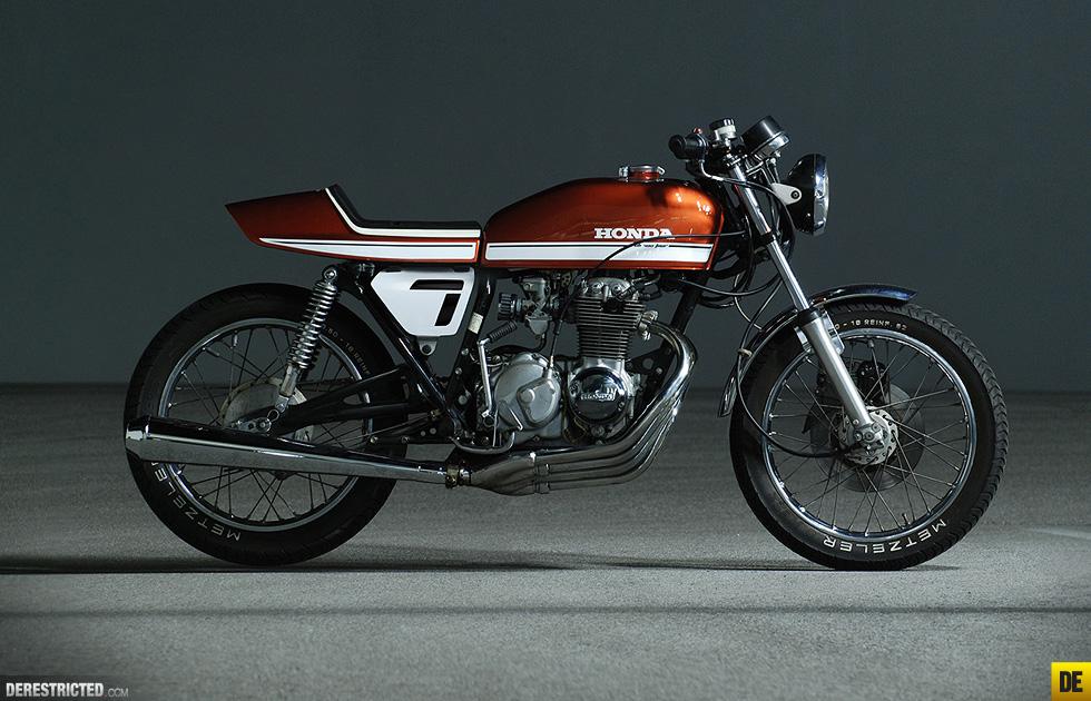 honda cb400f custom racer   4into1 vintage honda motorcycle