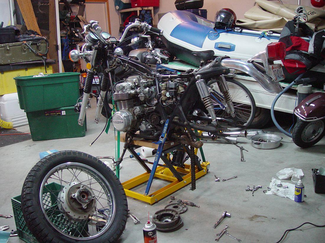 Honda Cb550 Cafe Racer Build Vintage Honda