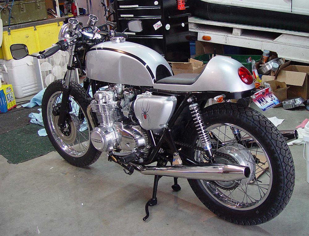 Honda Cb550 Custom Cafe Racer Motorcycle 50 4into1com Vintage