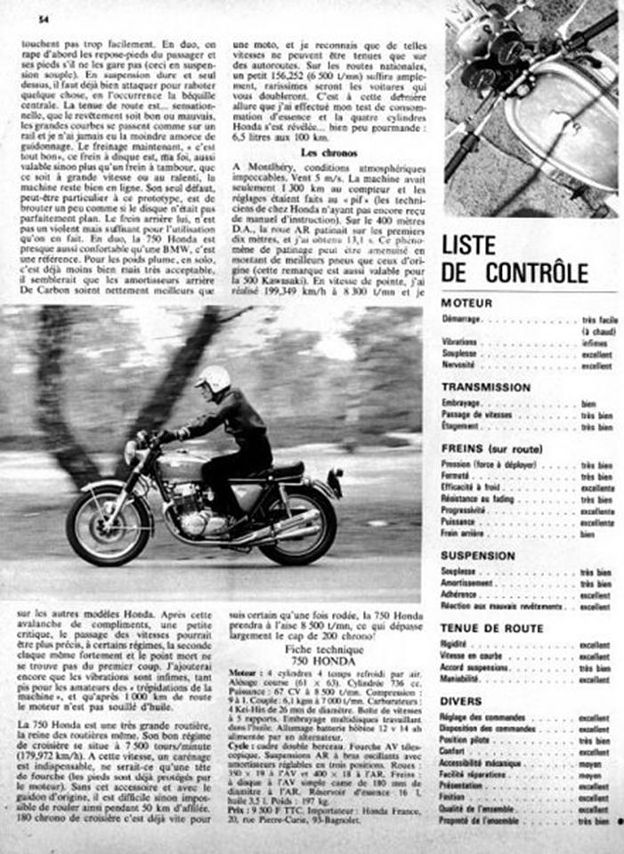 La Honda 750 - La Moto Du Siecle | 4into1.com Vintage ...