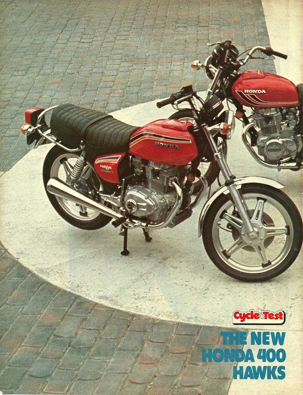 Cycle Test 1977 Cb400t The New Honda 400 Hawks 4into1