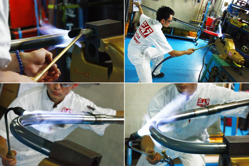 Yoshimura Honda CB400F Racing Straight Cyclone 4-Into-1 Exhaust hand bent artist