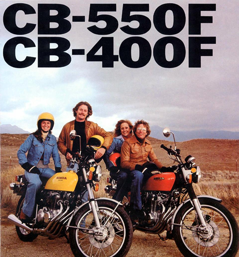 Honda Cb550f Cb400f Vintage Motorcycle Ad 1