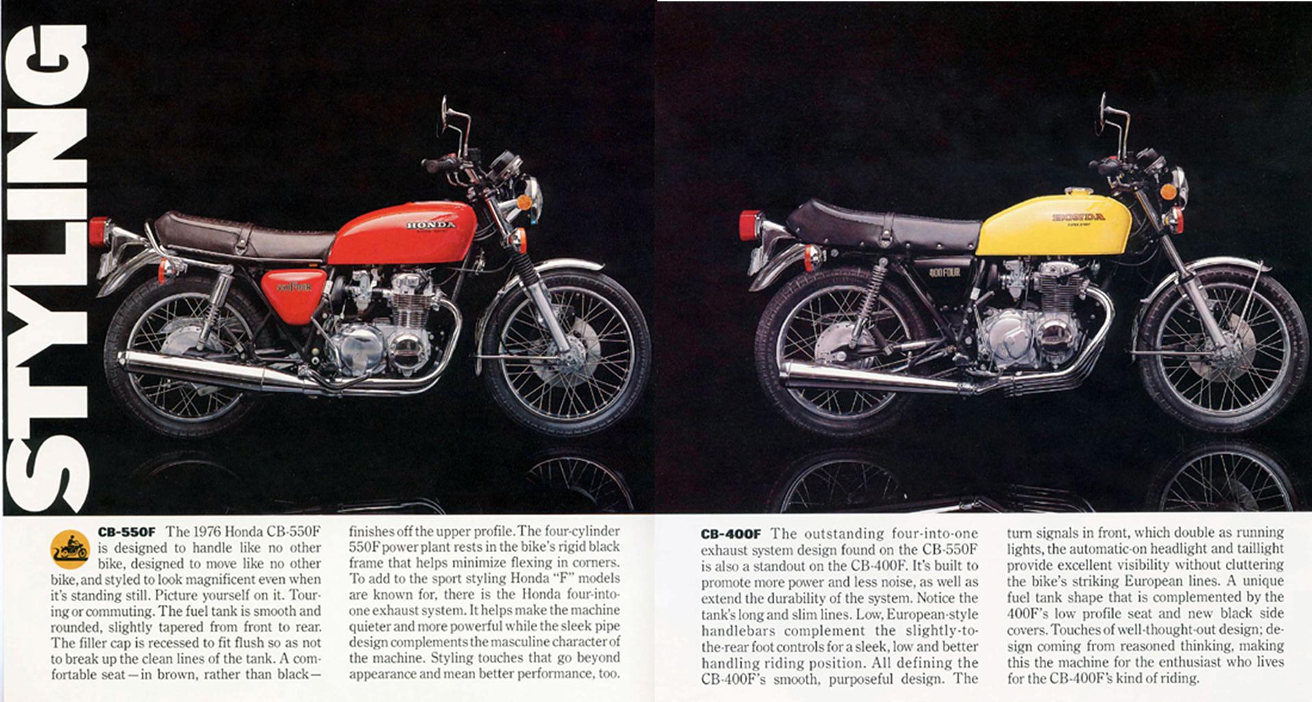 Honda Cb550f Cb400f Vintage Motorcycle Ad 2a