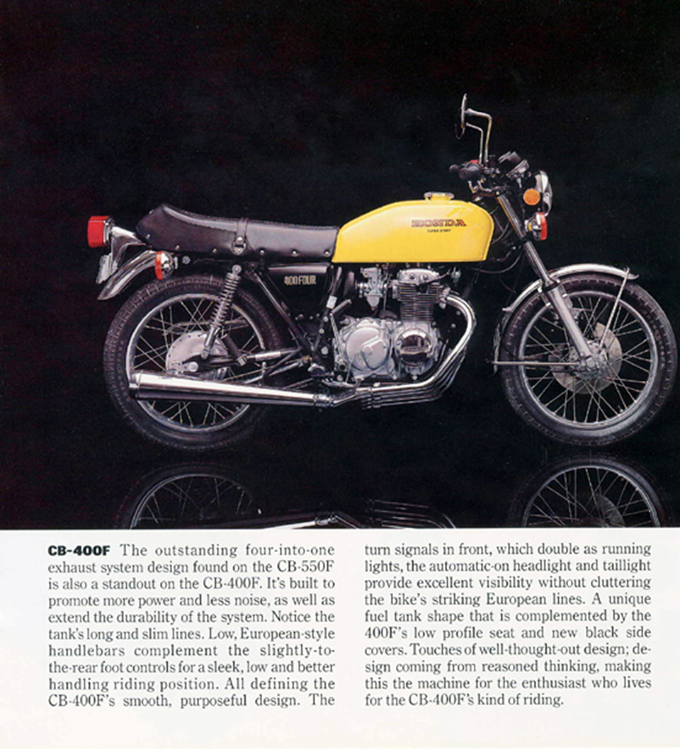 Cb 550f Cb 400f Honda First For Good Reason 4into1