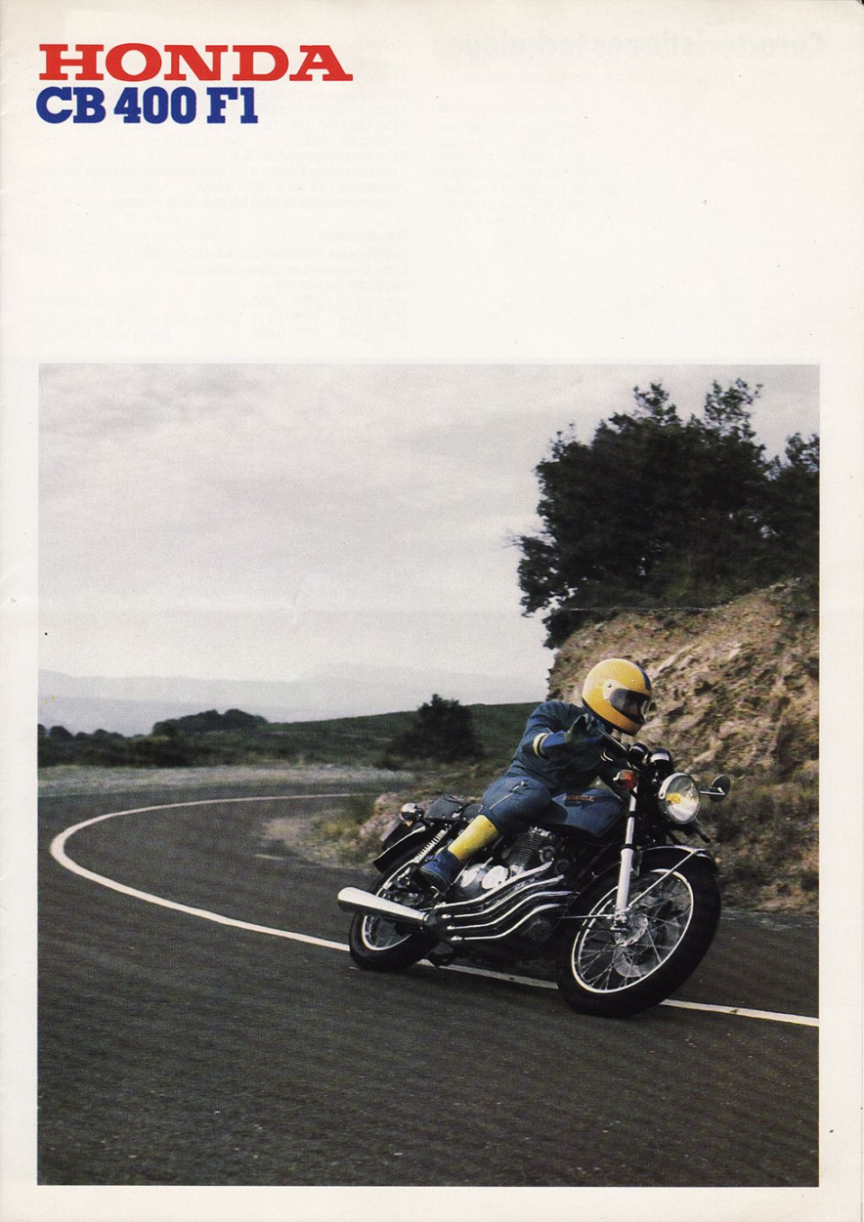 Honda CB400F1 French Brochure