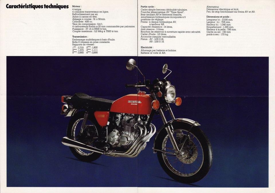 Honda CB400F1 French Brochure